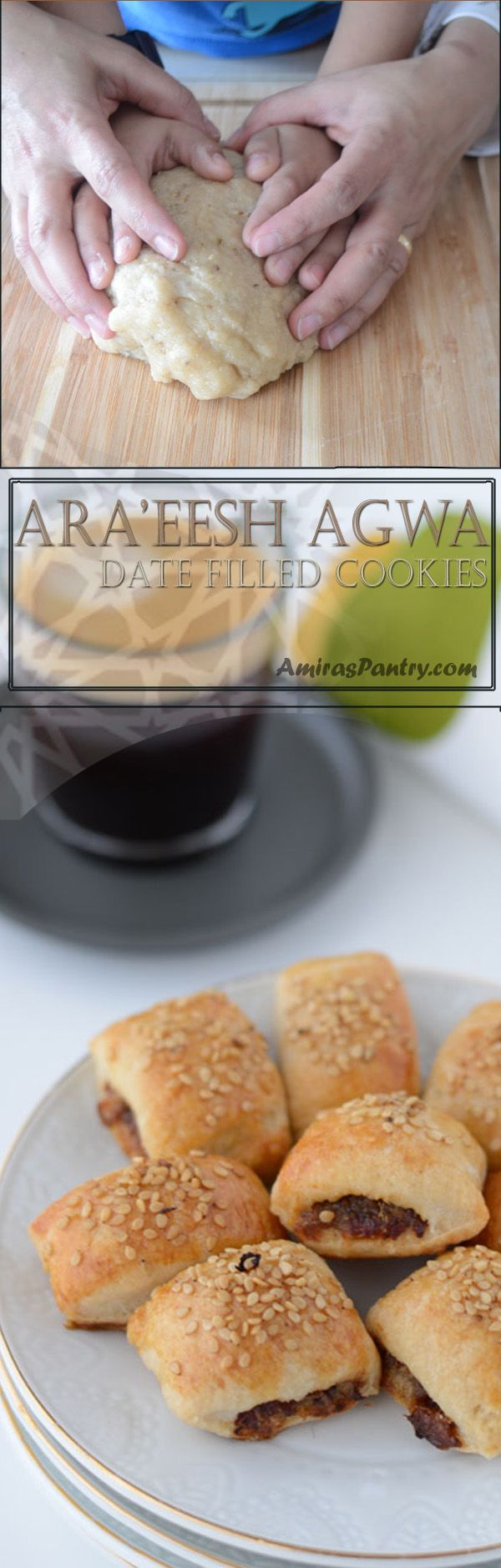 Tasty date filled rolls, this Egyptian Ara'eesh recipe can be made plain crunchy or soft. A perfect snack anytime of the day.
