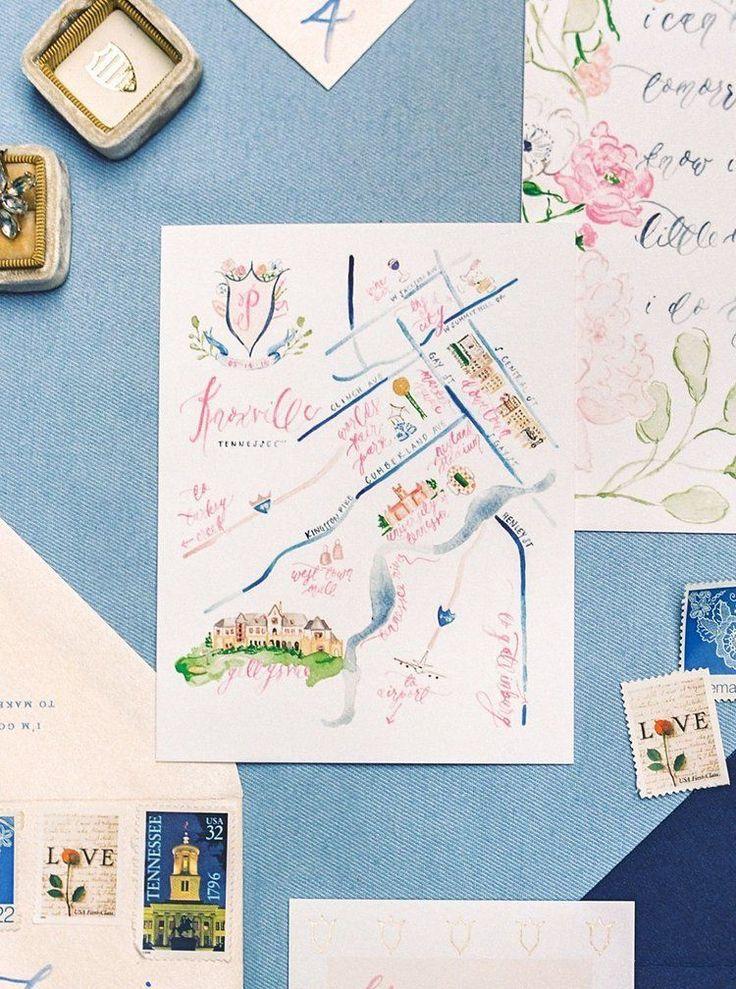 37 Mind Blowing Watercolor Wedding Ideas In 2020 Map Wedding