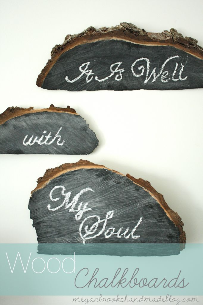 Wood Chalkboards With Text