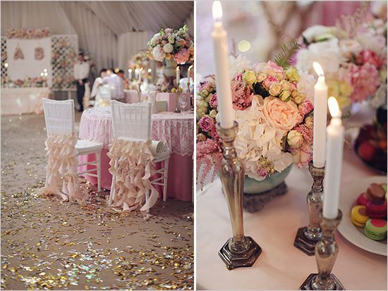 romantic wedding decor-loving the candle holders