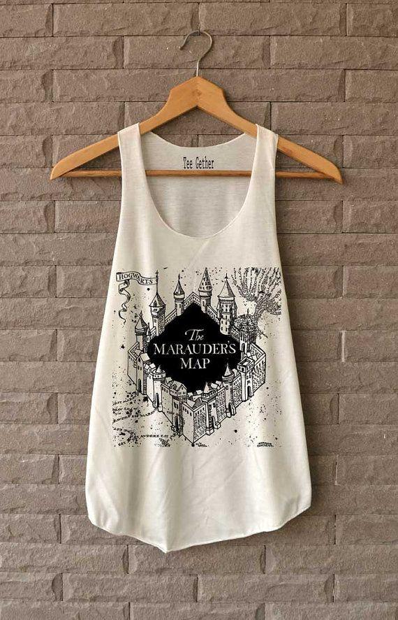 The Marauder's Map Shirt Harry Potter Shirts Tank by Teegethershop