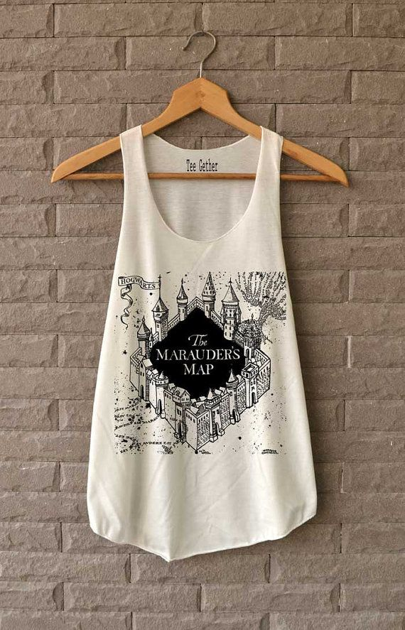 The Marauder's Map Shirt Harry Potter Shirts Tank by Teegethershop