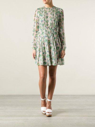 MSGM - flower print dress 7