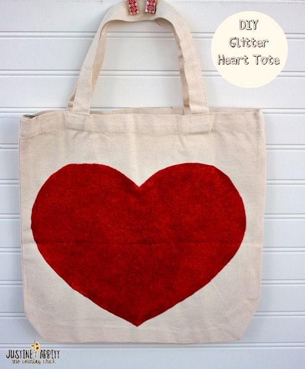 Mixing glitter and Mod Podge gives you such a sparkly finish! Kids and adults will love making this DIY glitter heart tote with this fun combination.