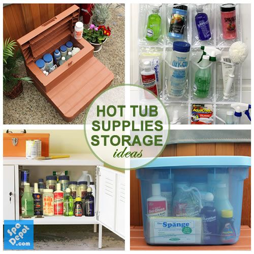 How to Properly Store Hot Tub Chemicals + 4 Nifty Organization Ideas!