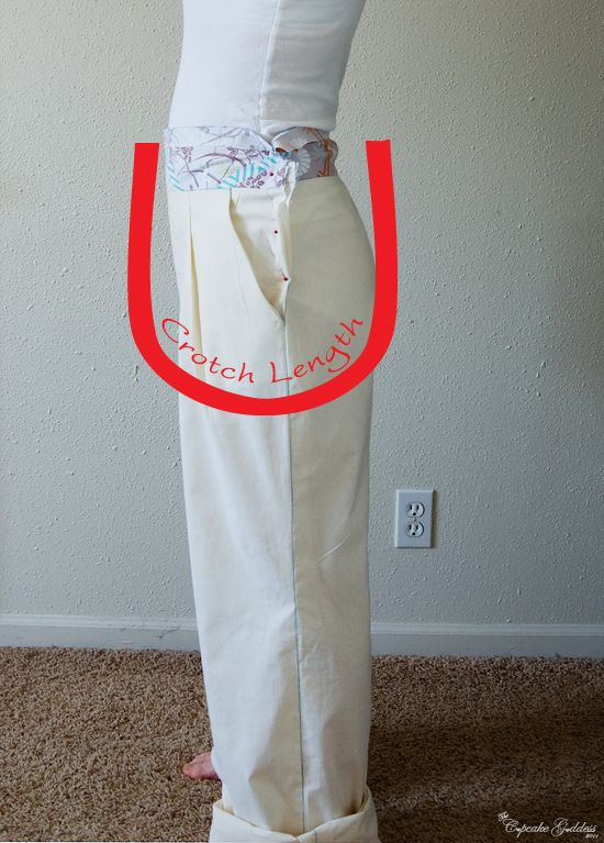 Summary of the most common trouser alterations (& crotch length). via A Fashionable Stitch