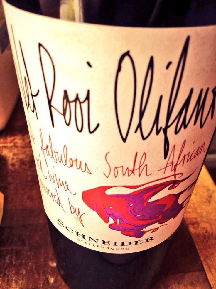 """Vet Rooi Olifant 2009, a Stellenbosch 'Bordeaux blend' (plus a smidgen of local Pinotage) from brilliant young German winemaker Markus Schneider. The name means """"Fat Red Elephant"""" in Afrikaans..."""