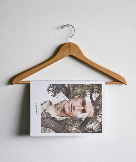 clever way to display a fashion-related publication, or in this case, a lookbook. hassan rahim.
