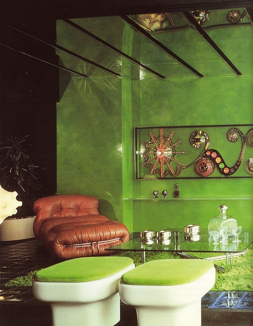 Lime green. Was my fav color. Painted my bedroom walls and ceiling! Groovy!