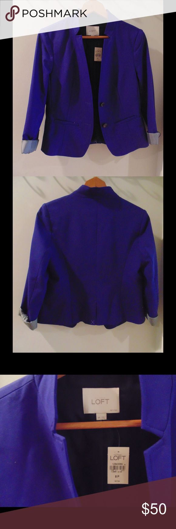 Royal Blue Blazer New with tags - royal blue blazer from Ann Taylor LOFT. LOFT Jackets & Coats Blazers