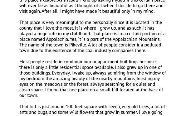 Best Descriptive Essay