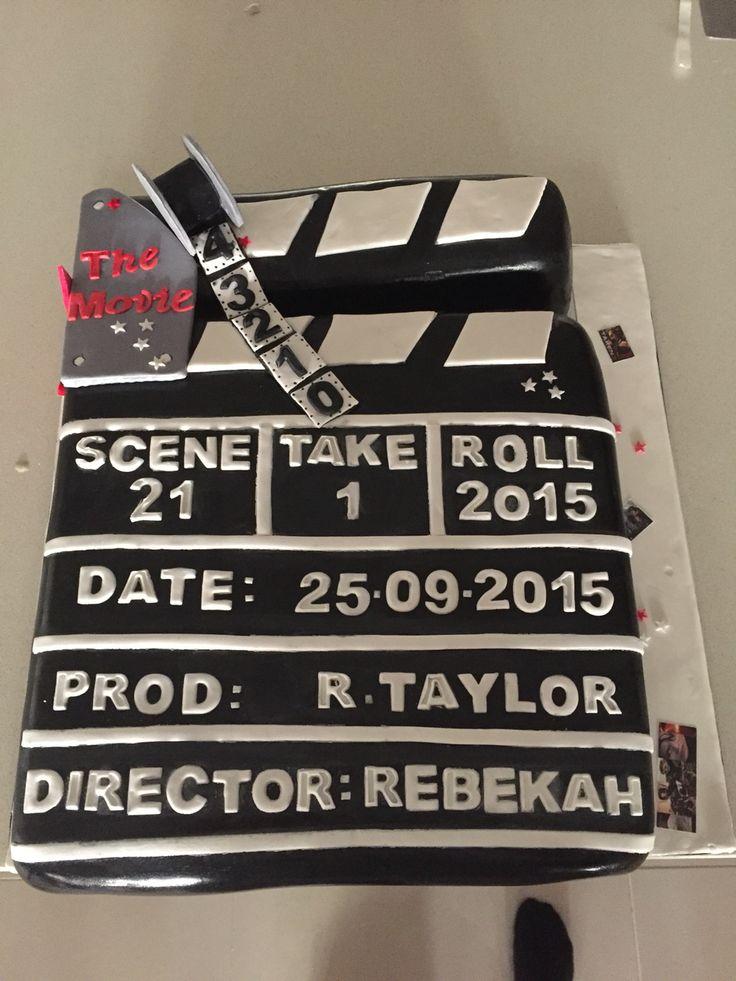 Clapper Board 21st Birthday Cake