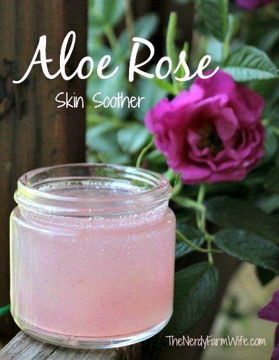 How to Make an Aloe Rose Skin Soother