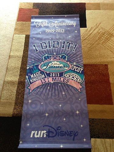 Run Disney Princess Half Marathon 5th Anniversary I Did It Banner
