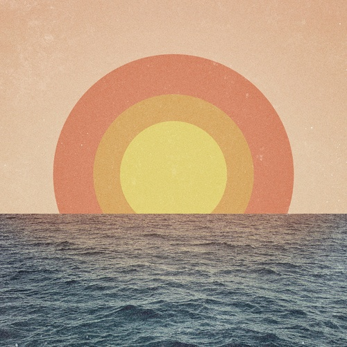 I love how simple the design is for the sunset but I think the reflection of the sun on the water is the coolest.