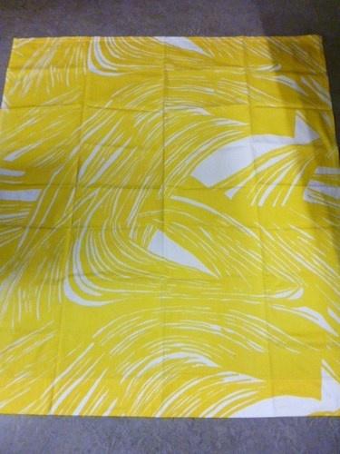 Tampella Finland Marjatta Metsovaara Design 70's Vintage Fabric Yellow White | eBay