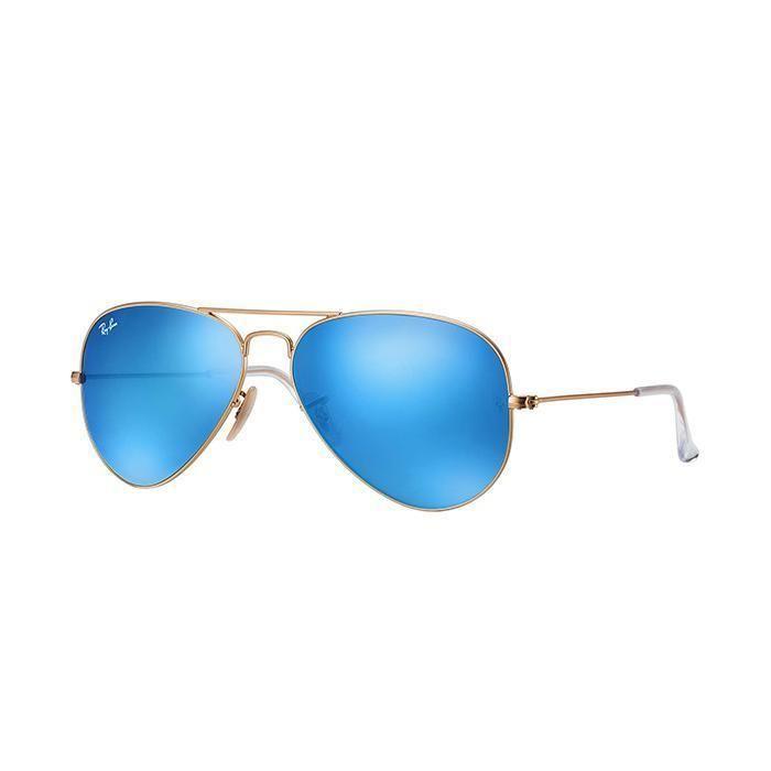 dacaefa8e0b Occhiali da sole ray-ban aviator unisex lenti blu flash RB 3025 112 ...