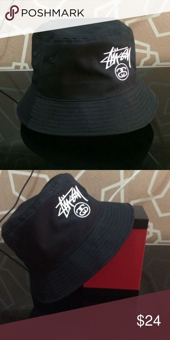 Stussy Bucket Hat new Black & white Stussy bucket hats brand new i have 8 more of these! The fit is relaxed , size M/L -  I've had bucket hats in the past be too small but these ones fit well and will fit anyone! Stussy Accessories Hats