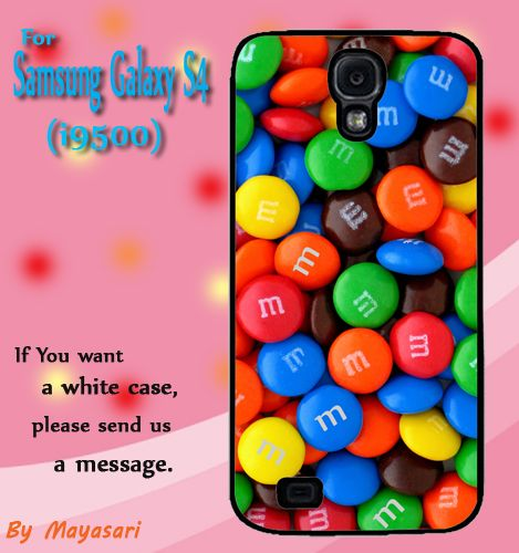 Chocolate Candy M Gift Print On Hard Plastic Samsung Galaxy S4, Black Case  Show off your signature style with a cool and customizable hard shell case for your Samsung Galaxy S4 I9500. Combining luxur