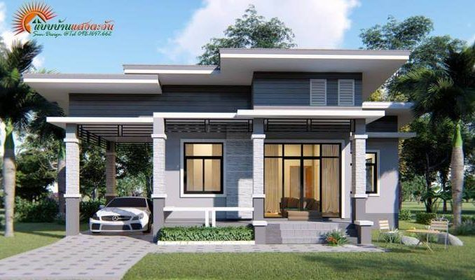 3 Concepts Of 3 Bedroom Bungalow House House And Decors Modern Bungalow House One Storey House Modern House Design