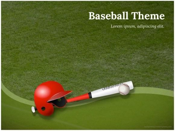 Baseball Powerpoint Template Free Keynote Template