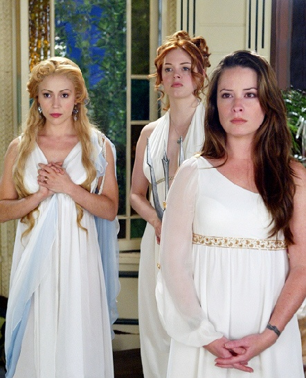 The charmed ones..another favorite episode :) When the ladies become Greek Goddess's...2 part episode, makes you think twice about crossing Piper!!