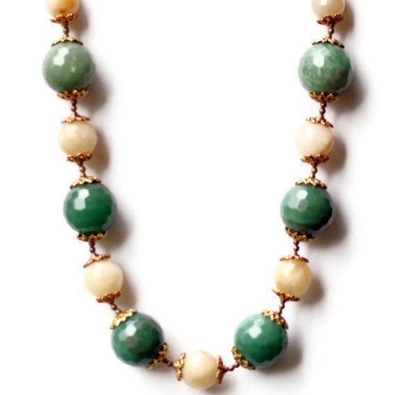 Handmade Rococo Statement Choker Bold Chunky Green by ALFAdesigns, $49.99