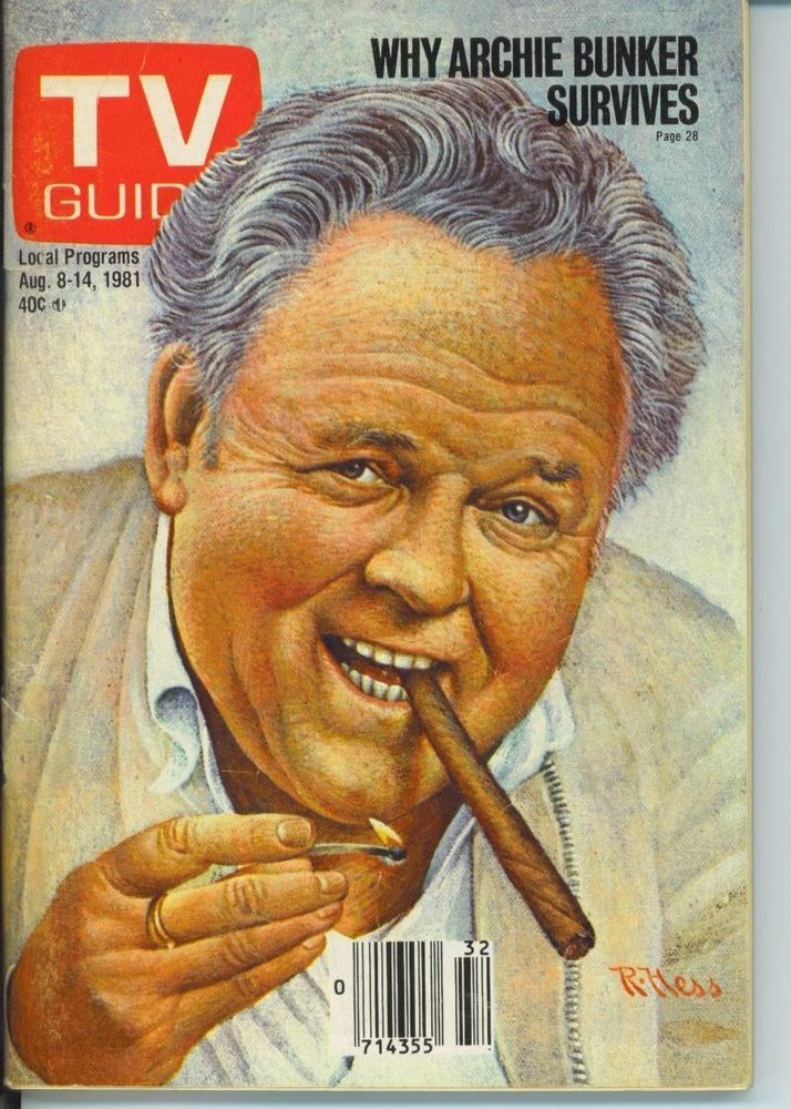 TV GUIDE 8-8-1981 ARCHIE BUNKER-SUSAN RICHARDSON-TONIGHT SHOW-CHICAGO EDITION