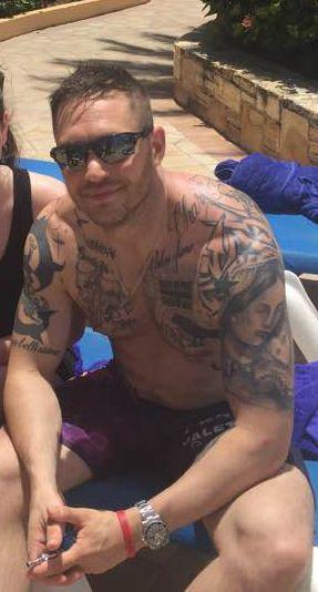 Tom Hardy - Antigua - July 2016