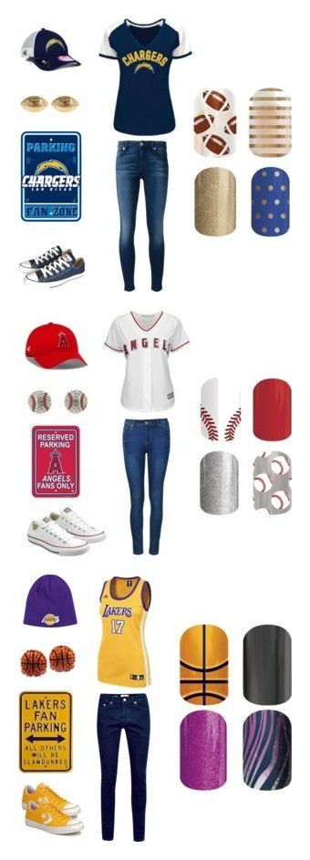 """""""Jamberry Sports"""" by kellie-guravich-medivitz on Polyvore featuring Converse, 7 For All Mankind, New Era, Fornash, Ally Fashion, Majestic and adidas"""