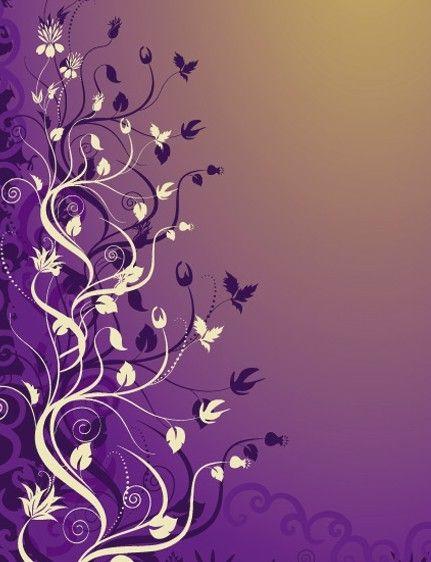 Free Vintage Styled Vector Flower Pattern Background 04