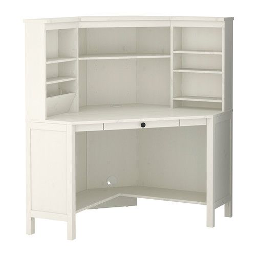 HEMNES Corner workstation - white stain - IKEA Too bad they don't sell this anymore.