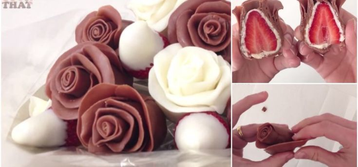 rose | How to Make Beautiful Chocolate Strawberry Roses