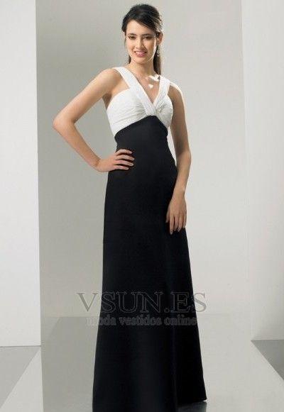 Vestido+de+dama+de+honor+Imperio+Sin+mangas+Imperio+Cintura+Hasta+el+suelo+Espalda+medio+descubierto