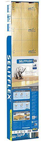 Selitflex Sous-couche isolante 2 en 1 pour parquet flottant et stratifié 1,6 mm: Sous-couche pour parquet flottant et stratifié Compatible…