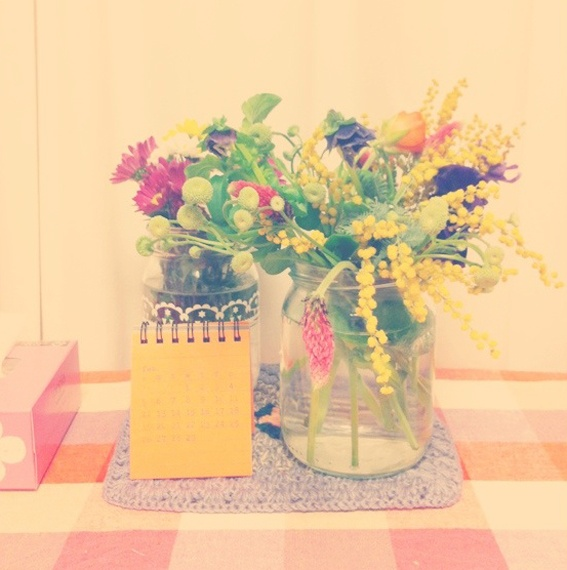 Flowers that make me smile from Hello Sandwich