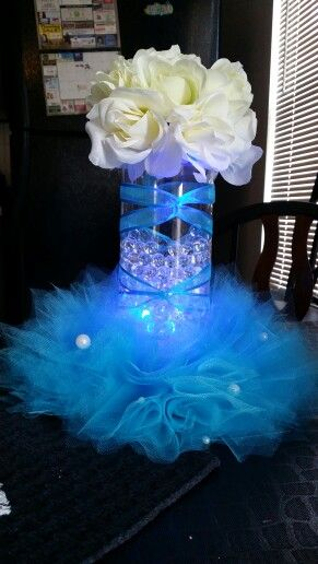 Quinceanera blue decoration ideas
