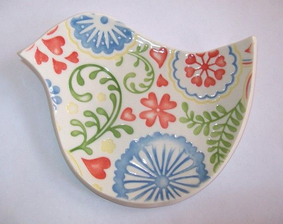 bird spoon rest $10: Handmade Ceramic, Colors Better