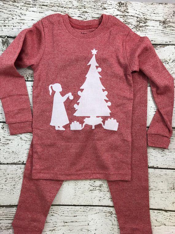 New lil threadz design posted! Christmas Pajamas Holiday Pajamas Christmas pj for girl Boy's Christmas pajama pajama set Children's Christmas pajama kid's pajama by lilthreadzclothing