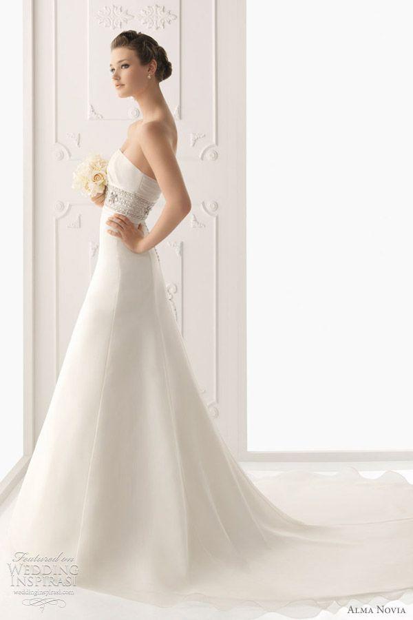 http://weddinginspirasi.com/2011/09/30/alma-novia-wedding-dresses-2012/  { alma novia #wedding gowns 2012 - Salonica dress }  #weddings #weddingdress #bridal