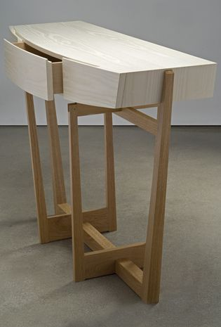 cirrus console - bleached ash and white oak - Eben Blaney Furniture