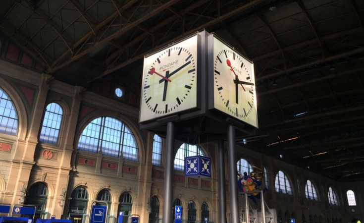 Swiss Railway Clock - Hilfiker Uhr