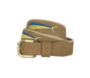 Guy Harvey Bull Dolphin Leather Belt Khaki 46  //Price: $ & FREE Shipping //     #sports #sport #active #fit #football #soccer #basketball #ball #gametime   #fun #game #games #crowd #fans #play #playing #player #field #green #grass #score   #goal #action #kick #throw #pass #win #winning