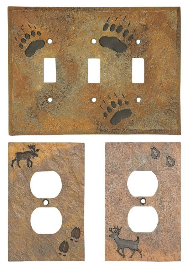 Add a touch of the outdoors to your cabin, bedroom or bathroom with these light switch covers.