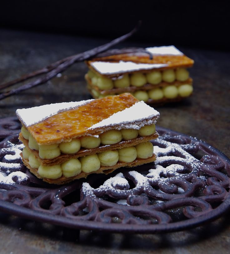 Pistachio And Strawberry Mousse Mille Feuilles Recipe ...