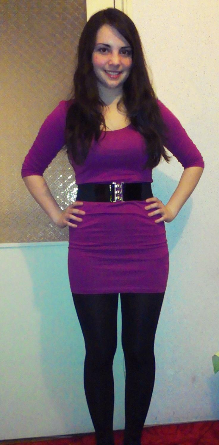 purple dress :D
