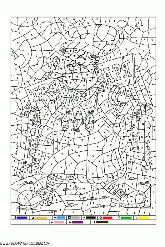 Resultado de imagen de pagina de dibujos para colorear con numeros
