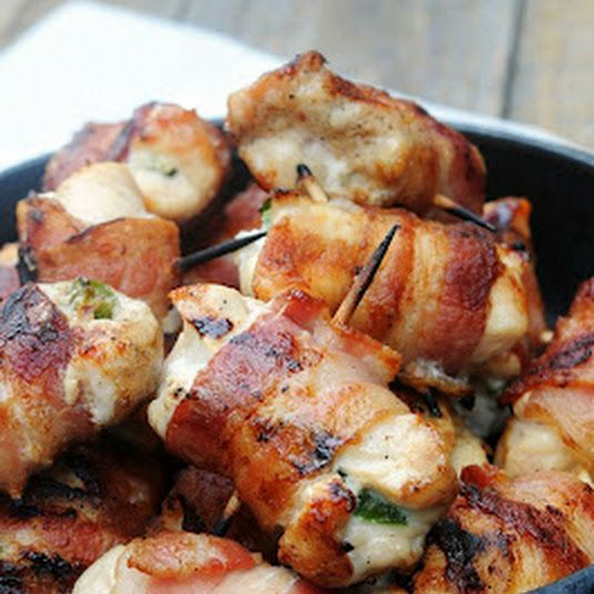 Bacon Wrapped Jalapeno Chicken Bites
