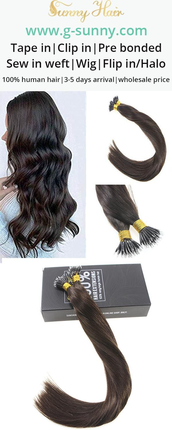 Sunny Hair 100 Remy Human Micro Link Extensions Nano Ring