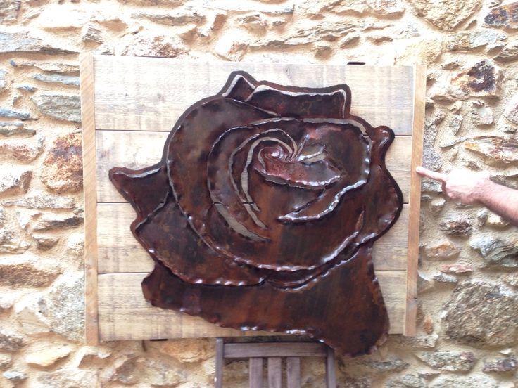 Rosa en ferro corten / Rose in Iron / Roos in ijzer / Rosa en hierro